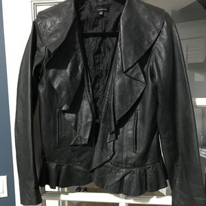 Leather coat size M